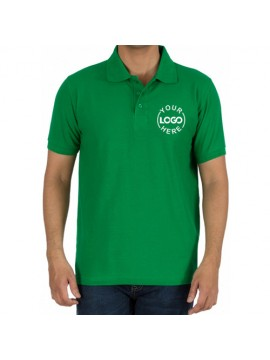 Embroidered Polo Cotton T-Shirt Green